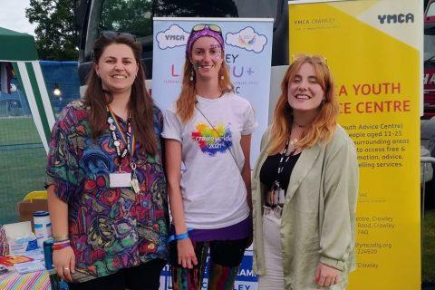 YMCA DownsLink Group at Crawley Pride Festival