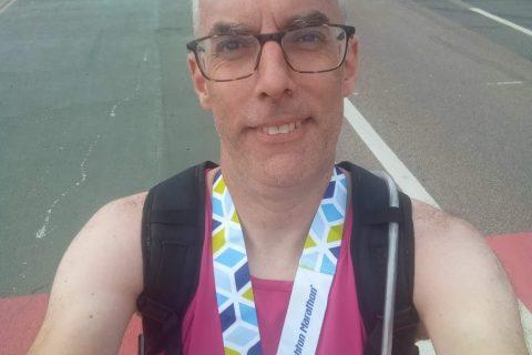 Carl running Brighton Marathon